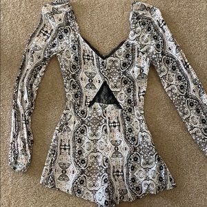Kendall and Kylie long sleeve romper